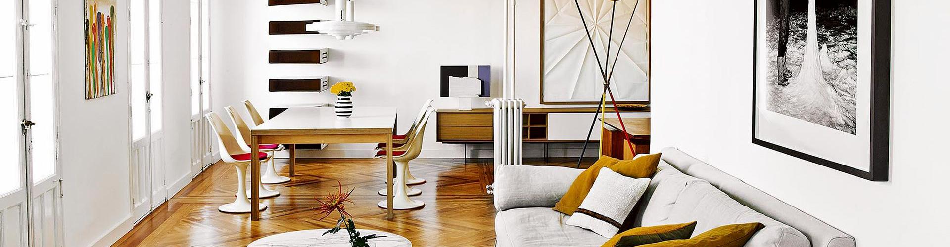 Soluzioni di styling e di interior design con un tocco retrò chic